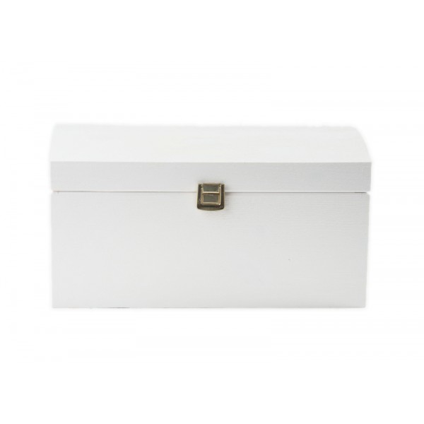 Kuferek drewniany 35x25x18,5 cm Biały