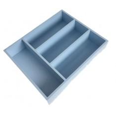 Skrzynka na sztućce drewniana 25x31x7 cm Niebieska