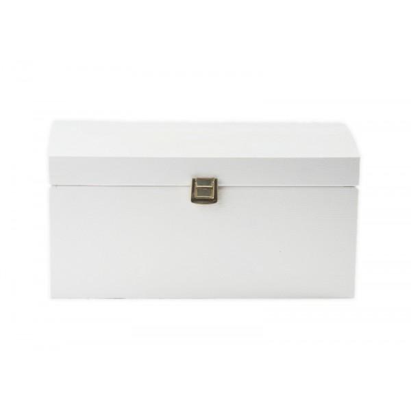 Kuferek drewniany 32x22x16 cm Biały
