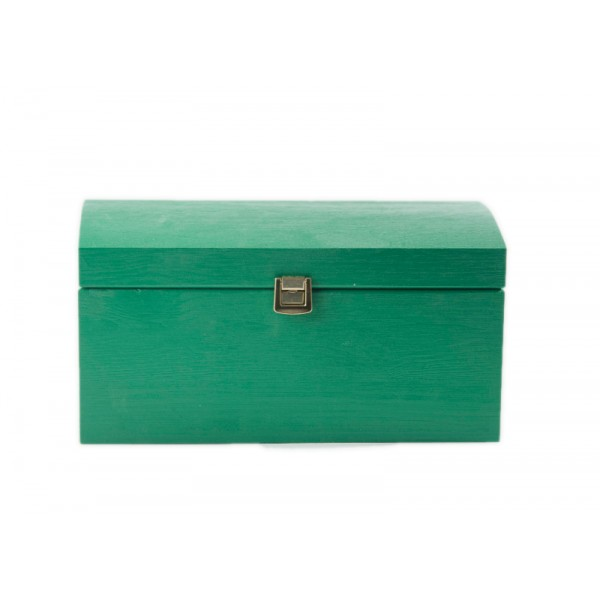 Kuferek drewniany 32x22x16 cm Zielony