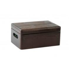 Skrzynka drewniana 30x20x13,5 cm Brązowa