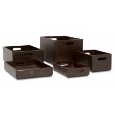 Skrzynka drewniana 40x30x23cm Sepia brown