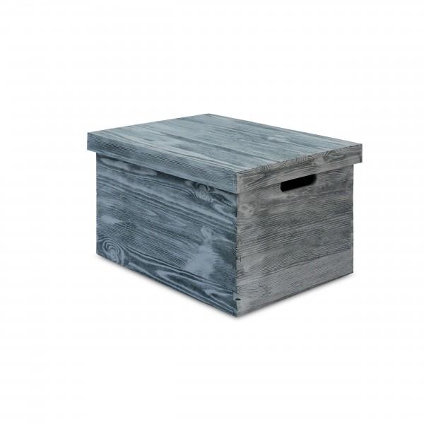 Skrzynka drewniana z deklem bez zawiasów 42x32x24 cm