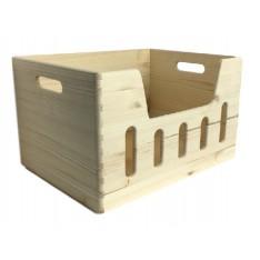 Skrzynka drewniana 40x30x23 cm z wybarniem
