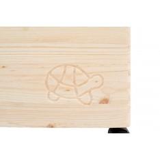 """Skrzynka drewniana z deklem 40x30x23 cm """"Żółw"""""""