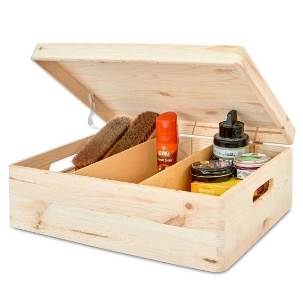Skrzynka drewniana z separatorami 40x30x13,5 cm. Wyprzedaż