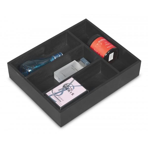 Skrzynka na sztućce drewniana 25x31x7 cm Czarny
