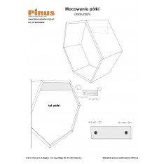 Półki heksagon plaster miodu
