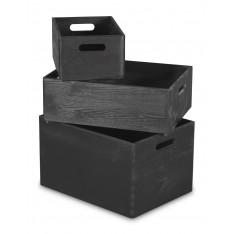 Skrzynka drewniana 30x20x13,5cm Black