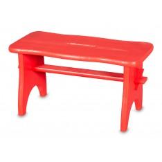 Stołek drewniany 38x19x21 cm Czerwony