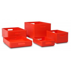 Skrzynka drewniana 40x30x13,5 cm Pure red