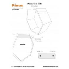 "Półka plaster miodu ""heksagon"" 31x27x13"