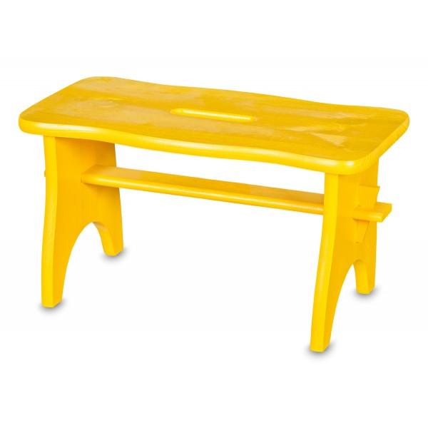 Stołek drewniany 38x19x21 cm Żółty