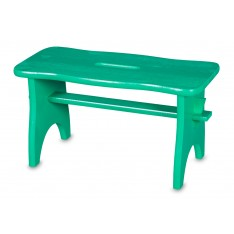 Stołek drewniany 38x19x21 cm Zielony