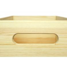 Skrzynka drewniana z deklem 40x30x23cm Natural wood