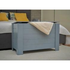 Kufer drewniany 77x40x50 cm Silver grey