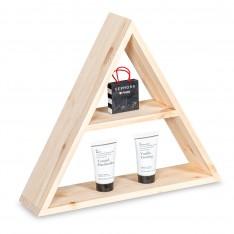 Półka drewniana trójkąt 43x37x10,5