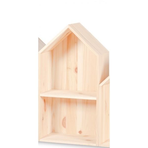 Półka domek drewniany II 22x12x41