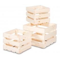 Skrzynka drewniana listewkowa 40x40x29,5 cm