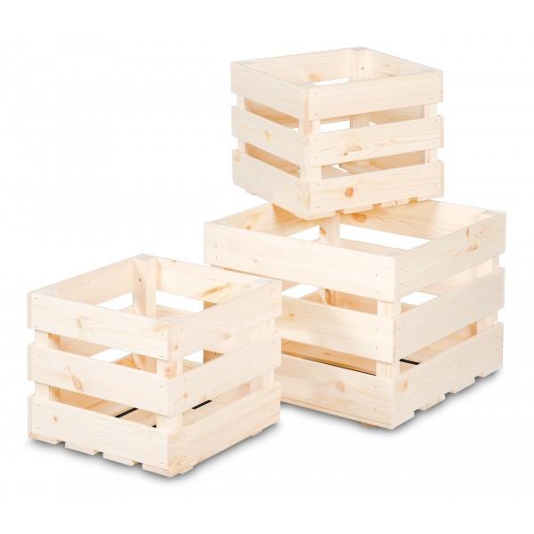 Skrzynka drewniana listewkowa 30x30x25 cm