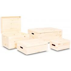 Skrzynka drewniana z deklem 60x40x23 cm Natural Wood