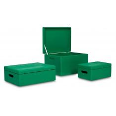 Skrzynka drewniana z deklem 40x30x13,5 cm Mint green