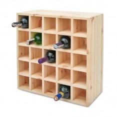 Regał drewniany na wino kratka 52x25x52 cm