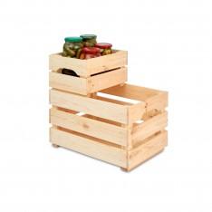 Skrzynka drewniana duża 46x31x25 cm Natural wood