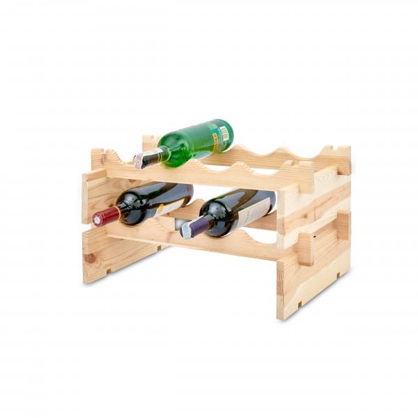 Stojak drewniany na butelki 2-poziomy 50x32x27 cm
