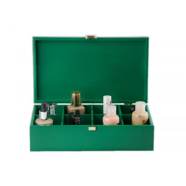 Herbaciarka drewniana 28x16x8,5 cm Zielona