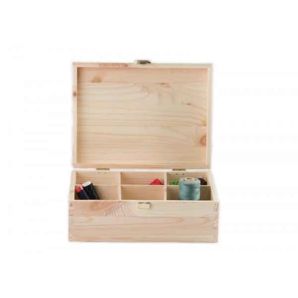 Herbaciarka drewniana 21x16x8,5 cm