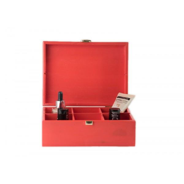Herbaciarka drewniana 21x16x8,5 cm Pure red