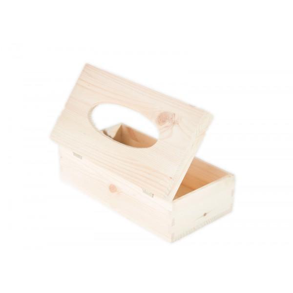 Chustecznik drewniany 25x13x9 cm