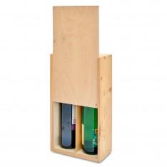"Skrzynka drewniana na Butelki na ""2"" 20x11x35 cm Natural wood"
