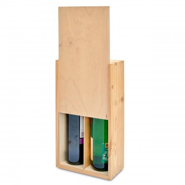 """Skrzynka drewniana 20x11x35 cm na wino """"2"""""""