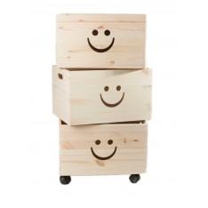 Trio uśmiech drewniane 39x30x74 cm Natural wood