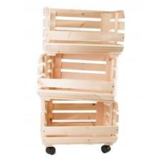 Warzywniak drewniany  39x30x74 cm