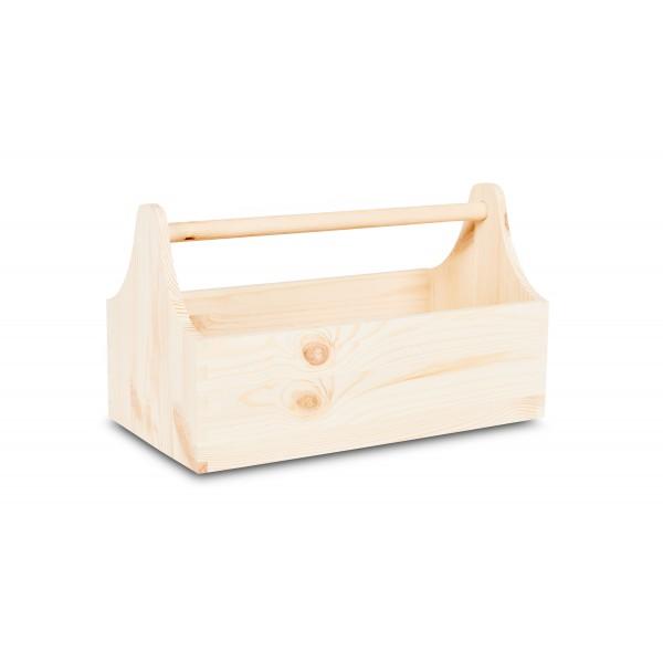 Skrzynka Drewniana Dekoracyjna Na Zioła 34x18x20,5 cm