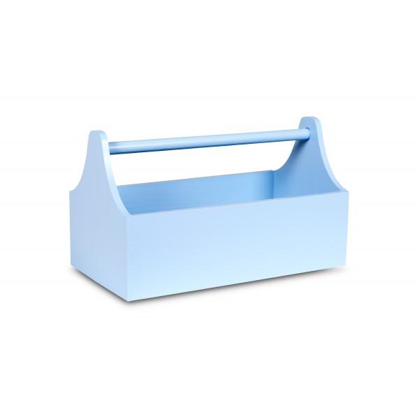 Skrzynka Drewniana Dekoracyjna Na Zioła 34x18x20,5 cm Niebieska