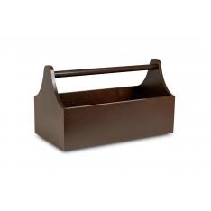 Skrzynka Drewniana Dekoracyjna Na Zioła 34x18x20,5 cm Brązowa