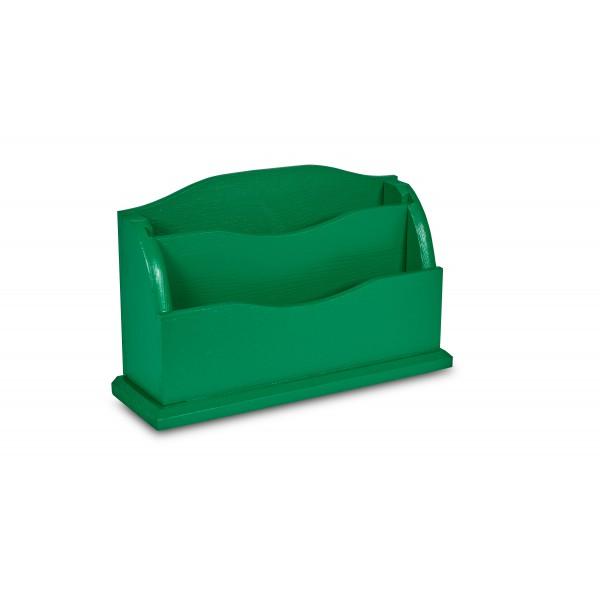 Przybornik drewniany 27x8x16,5 cm Zielony