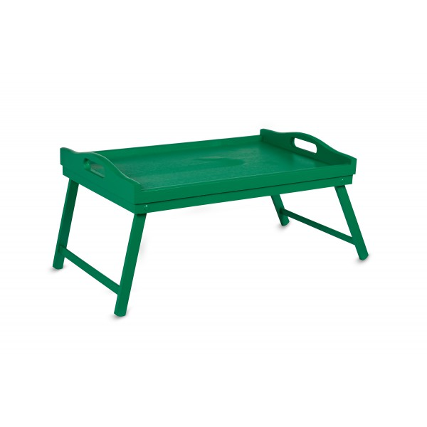 Taca z nogami drewniana 51x32x24 cm Zielona