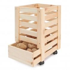 Skrzynka drewniana na ziemniaki 31x37x50 cm