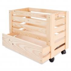 Skrzynka drewniana na ziemniaki 61x42x43 cm