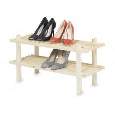 Półka na buty składana drewniana 70x26x34 cm Natural wood