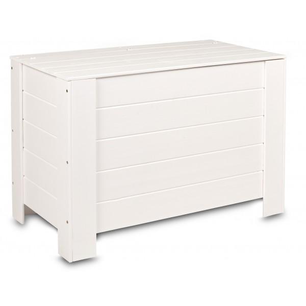 Kufer drewniany 77x40x50 cm Biały