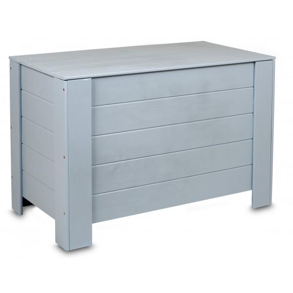 Kufer drewniany 77x40x50 cm Szary
