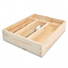 Skrzynka na sztućce drewniana 25x31x7 cm