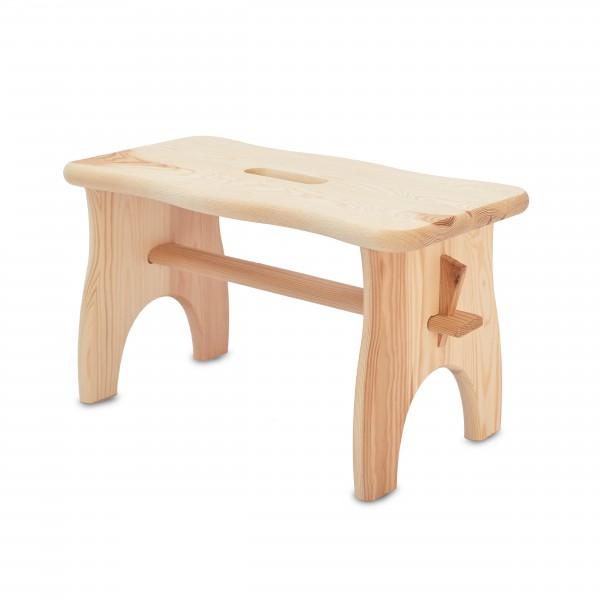 Stołek drewniany 38x18x21 cm