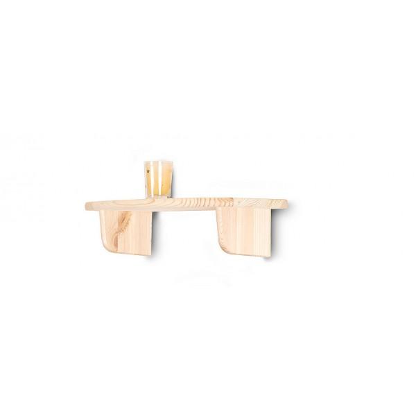 Półka drewniana ścienna 45 cm